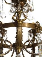 Antique Bronze French Figural 5 Light Chandelier (5 of 7)