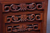 Nest of 3 Chinese Qing Dynasty Rosewood & Burr Wood Tables (5 of 11)