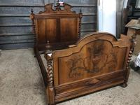 19th Century French Walnut Chateau Bed (3 of 6)