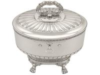 Sterling Silver Locking Biscuit Box - Antique 1845 (2 of 15)