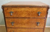 Quality Burr Walnut Chest of Drawers (3 of 7)