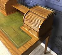 Victorian Inlaid Mahogany Writing Desk (6 of 20)