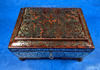 English Boulle & Brass Kingwood Edged Jewellery Box (3 of 16)