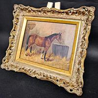 Oil on Canvas of a Chesnut Mare (3 of 4)