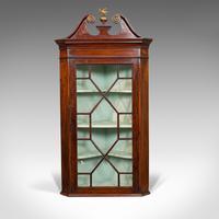 Antique Corner Cabinet, English, Mahogany, Wall, Georgian, Astragal Glaze, 1790 (9 of 12)