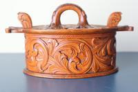 Scandinavian / Norwegian 'Folk Art' Baroque / Acanthus Carved Tine Box c.1910 (13 of 39)