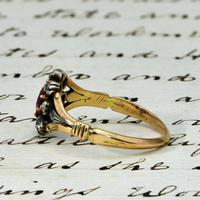 The Antique Victorian Ruby & Ten Diamond Ring (3 of 5)