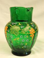 An Antique Green Glass Decorated Jug (6 of 6)