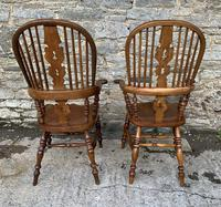 Pair of Antique Broad Arm Windsor Chairs (3 of 28)
