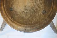 Scandinavian / Swedish 'Folk Art' Blekinge chair, three-legged, curved back & circular seat c.1850 (25 of 31)