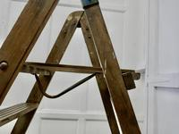 Tall 19th Century Wooden Step Ladder (3 of 7)