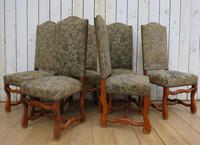 Set of Six Oak Os De Mouton Dining Chairs (6 of 9)