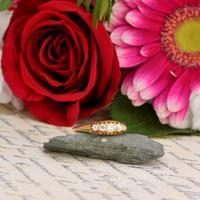 The Antique 1910 Edwardian Old European Cut Five Diamond Ring