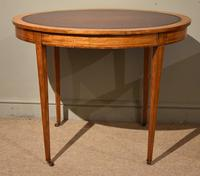 19th Century Oval Satinwood Writing Table (4 of 7)