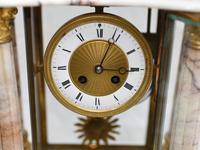 Antique Mantle Clock Set Garniture French Empire Urns (7 of 27)