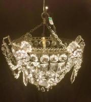 Small One Light French Bag Chandelier (5 of 5)