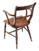 Matched Set of 8 Elm & Beech Kitchen Dining Chairs Mid-19th Century Oxford Knife-back (6 of 8)