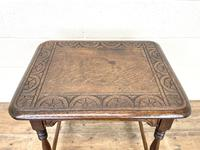 Early 20th Century Antique Oak Carved Side Table (9 of 10)