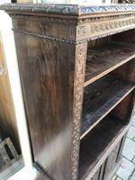 Carved Oak Adjustable Bookcase (11 of 12)