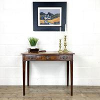 Antique Edwardian Mahogany Side Table with Inlay