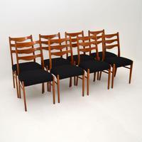Set of 8 Danish Vintage Teak Dining Chairs by Arne Wahl Iversen (7 of 10)