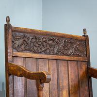 Carved Oak Bench (2 of 9)