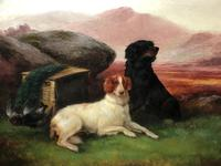 "Victorian Oil Painting Hunting ""Game Dogs"" Signed Robert Cleminson (10 of 29)"