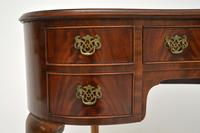Antique Queen Anne Style Mahogany Kidney Desk / Dressing Table (6 of 11)