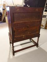 A Handsome Late 17th Century Block Fronted Oak and Mahogany Chest (2 of 5)