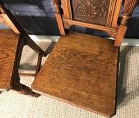 Pair of Victorian Oak Hall Chairs (9 of 17)