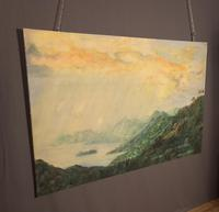 Large Mid century Oil on Canvas St Lucia (6 of 7)