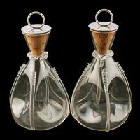 Pair of Edwardian Silver Stopper Carafes (7 of 8)