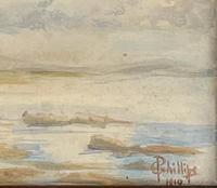 Watercolour of Shoreline (2 of 3)