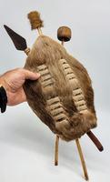 African Cow Hide Mini Zulu Shield (7 of 8)