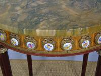 Good Louis XVI Style Marble & Kingwood Lamp Table (6 of 8)
