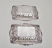 Unusual Pair of Victorian Silver Bonbon Dishes by Minshull & Latimer, Birmingham 1898 (4 of 5)