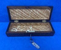 William IV Rosewood Glove Box with Stick Ware & Tunbridge Ware (12 of 14)