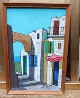 Oil on Board the Court Yard Artist Spina 1960s (6 of 10)