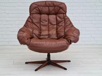 H.W.Klein, Danish swivel armchair, 70s, leather, original upholstery, very good condition (9 of 19)