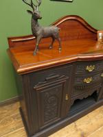 Art Nouveau Black Painted Sideboard, Gothic shabby chic (10 of 16)