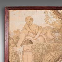 Antique Tapestry Panel, French, Framed, Needlepoint, Decorative, Edwardian, 1910 (7 of 10)