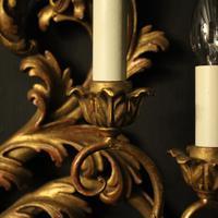 Florentine 4 Light Giltwood Antique Wall Lights (5 of 6)