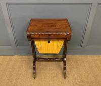 Regency Period Rosewood Work Table (2 of 15)