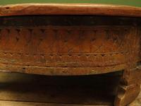 Antique Carved Indian Chakki Table Coffee Table with Lid (9 of 14)