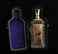Antique 14ct Rose Gold Scent Bottle, 19th Century, Dutch, Cased (2 of 15)