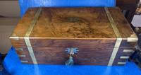 Victorian Brass-bound Walnut Writing Slope with Secret Drawers (31 of 39)
