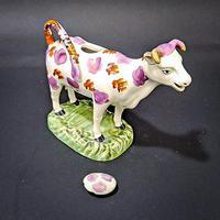Swansea Cambrian Pottery Cow Creamer (3 of 7)