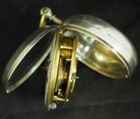 Antique Silver Pair Case Pocket Watch Fusee Verge Escapement Key Wind Enamel J Crainbrook (3 of 10)