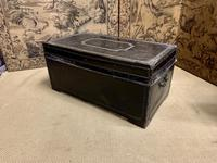 English Regency Leather Camphor Wood Trunk (3 of 5)