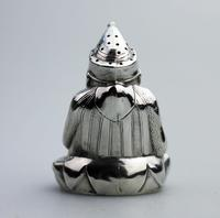 A Rare & Fine Solid Silver Novelty Mr Punch Pepper Shaker William Sparrow C.1903 (4 of 8)